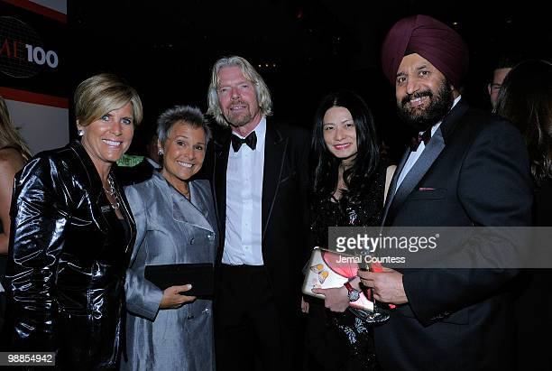 Suze Orman Kathy Travis Richard Branson Vivian Tam and guest attend Time's 100 most influential people in the world gala at Frederick P Rose Hall...