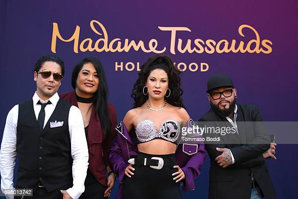 Suzette Quintanilla AB Quintanilla and Chris Perez attend the Madame Tussauds Hollywood Unveils A Wax Figure Of Selena Quintanilla at Madame Tussauds...