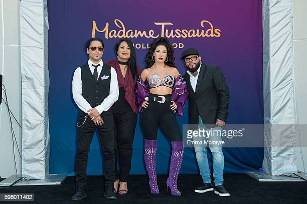 Suzette Quintanilla and AB Quintanilla attend 'Madame Tussauds Hollywood unveils a wax figure of Selena Quintanilla' at Madame Tussauds on August 30...
