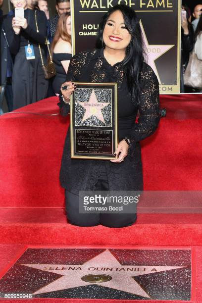 Suzette Quintanilla attends a ceremony honoring Selena Quintanilla with a star on The Hollywood Walk Of Fame on November 3 2017 in Hollywood...