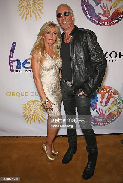 Suzette Snider and her husband singer Dee Snider of Twisted Sister attend Criss Angel's HELP charity event at the Luxor Hotel and Casino benefiting...