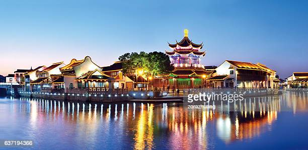 suzhou garden at sunset - suzhou stock pictures, royalty-free photos & images