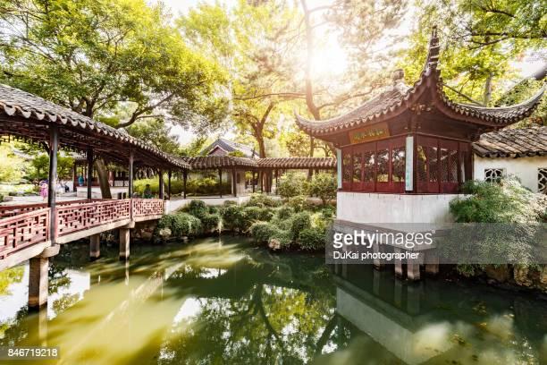 suzhou humble administrator's garden - suzhou stock pictures, royalty-free photos & images