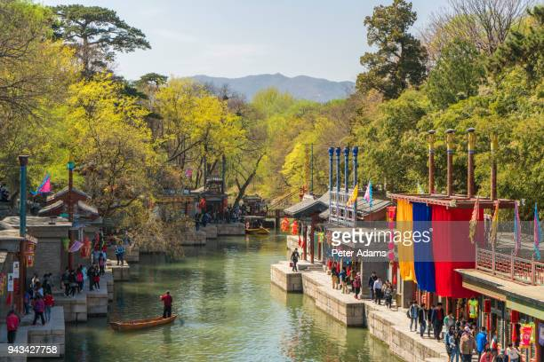 suzhou market street, summer palace, beijing, china - peter adams stock pictures, royalty-free photos & images