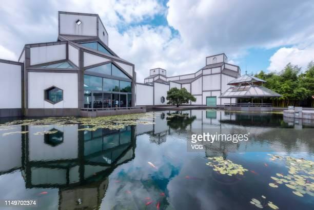 Suzhou Museum designed by ChineseAmerican architect Ieoh Ming Pei is seen on August 22 2018 in Suzhou Jiangsu Province of China ChineseAmerican...