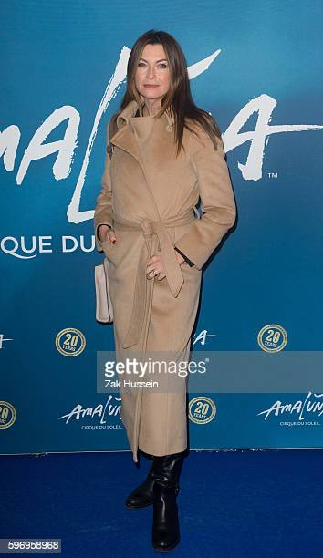 Suzi Perry arriving at the premiere of Cirque du Soleil's Amaluna at the Royal Albert Hall in London