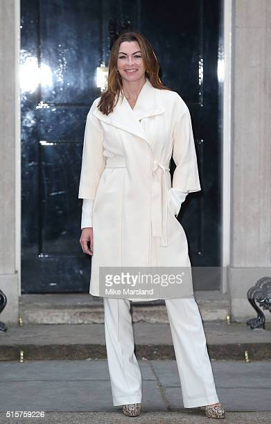 Suzi Perry attends a reception for Sports Relief hosted by David Cameron at 10 Downing Street on March 15 2016 in London England