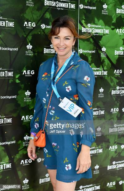Suzi Perry attends as Barclaycard present British Summer Time Hyde Park in Hyde Park on July 8 2018 in London England