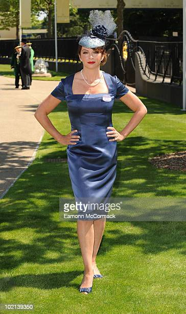 Suzi Perry attends Royal Ascot at Ascot Racecourse on June 16 2010 in Ascot England
