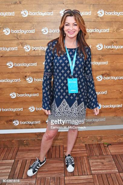 Suzi Perry enjoying Barclaycard Exclusive area at Barclaycard presents British Summer Time Hyde Park at Hyde Park on June 30 2017 in London England