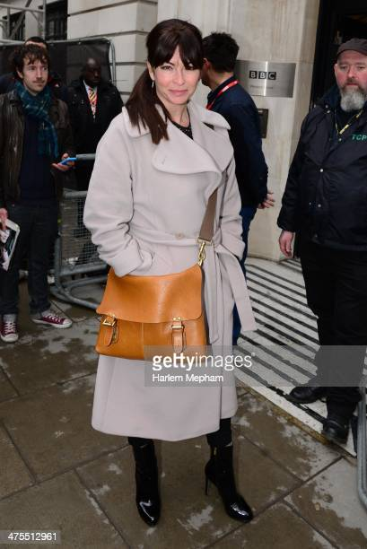 Suzi Perry sighted leaving BBC Radio Two on February 28 2014 in London England
