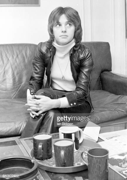 Suzi Quatro is interviewed at Rak Records office London 1974