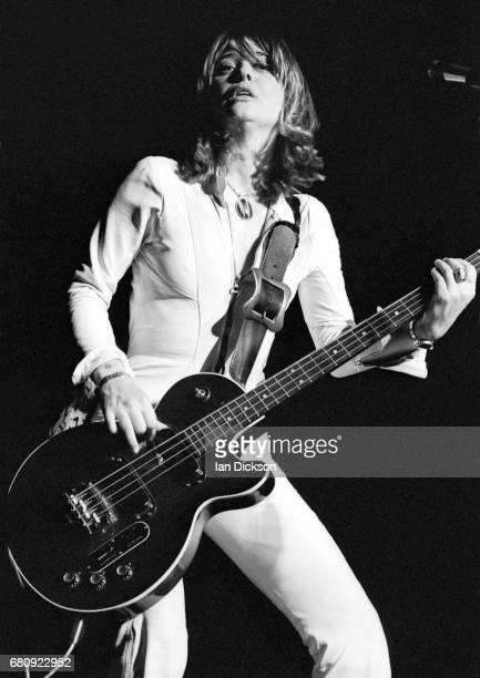 Suzi Quatro performing on stage United Kingdom 1974