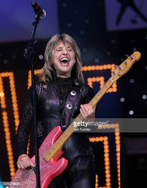 Suzi Quatro performs at the BBC Radio 2 Elvis Forever concert at Hyde Park on September 12 2010 in London England The gig celebrates the music of...