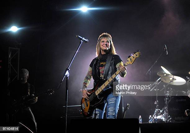 Suzi Quatro performs on stage at the Palais Theatre on September 12 2009 in Melbourne Australia