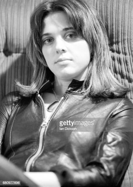 Suzi Quatro portrait at Rak Records office London 1974
