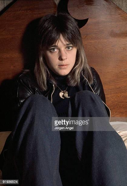 Suzi Quatro poses in October 1974 in Copenhagen Denmark