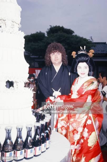 Suzi Quatro taken at her wedding reception June 1977 Tokyo Japan Suzi Quatro Len Tuckry