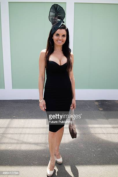Suzi Taylor from The Block at the 2015 Melbourne Cup Carnival at Flemington Racecourse on November 3 2015 in Melbourne Australia Chris Putnam /...