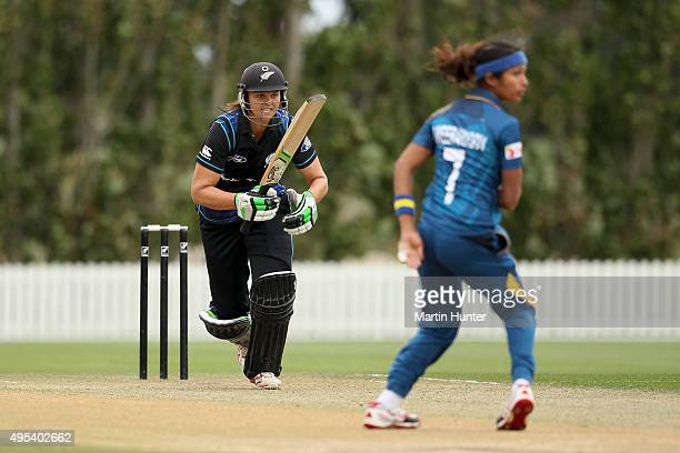 Suzie Bates of New Zealand bats during the First Women's One Day International match between New Zealand and Sri Lanka at Bert Sutcliffe Oval Lincoln...