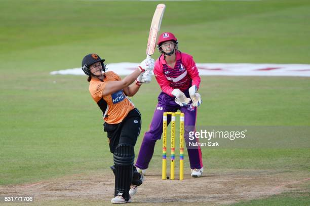 Suzie Bates of Southern Vipers bats during the Kia Super League 2017 match between Loughborough Lightning and Southern Vipers at The 3aaa County...