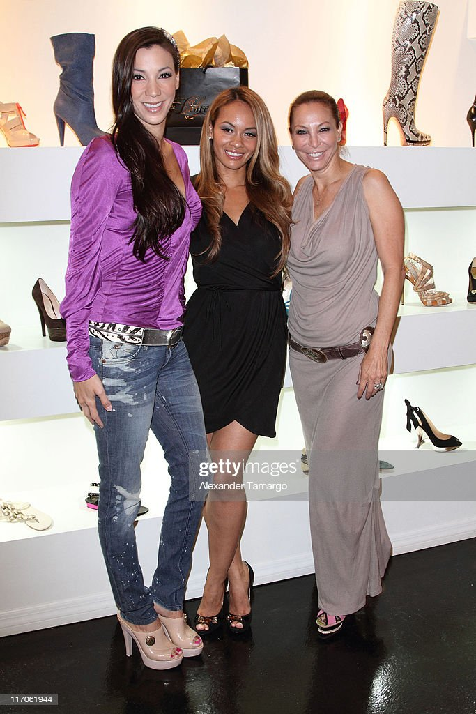 Suzie Ketcham, Evelyn Lozada and Lisa Pliner are seen at Dulce Shoe Boutique on May 6, 2010 in Coral Gables, Florida.