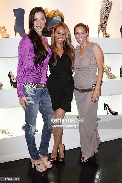 Suzie Ketcham Evelyn Lozada and Lisa Pliner are seen at Dulce Shoe Boutique on May 6 2010 in Coral Gables Florida