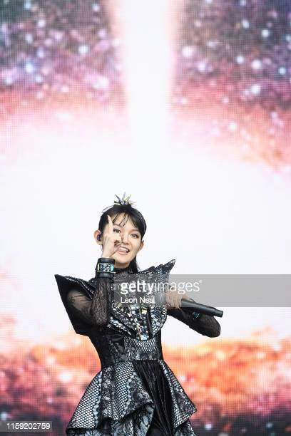 Suzuka Nakamoto of Babymetal performs on The Other Stage on day five of Glastonbury Festival at Worthy Farm Pilton on June 30 2019 in Glastonbury...