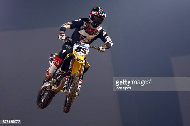 Suzuki JPM's rider Cedric Soubeyras of France during the Supercross of Paris qualifying day on November 18 2017 at U Arena in Nanterre France