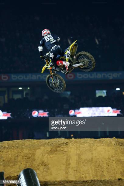 Suzuki JPM's rider Cedric Soubeyras of France during the Supercross of Paris on November 19 2017 at U Arena in Nanterre France