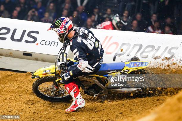 Suzuki JPM's rider Cedric Soubeyras of France during the Supercross of Paris on November 18 2017 at U Arena in Nanterre France