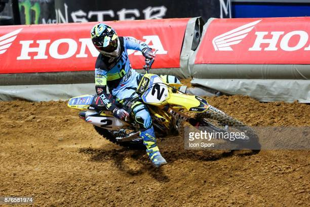 Suzuki JPM's rider Florent Richier of France during the Supercross of Paris on November 19 2017 at U Arena in Nanterre France