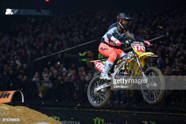 Suzuki JPM's rider Yannis Irsuti of France during the Supercross of Paris on November 19 2017 at U Arena in Nanterre France