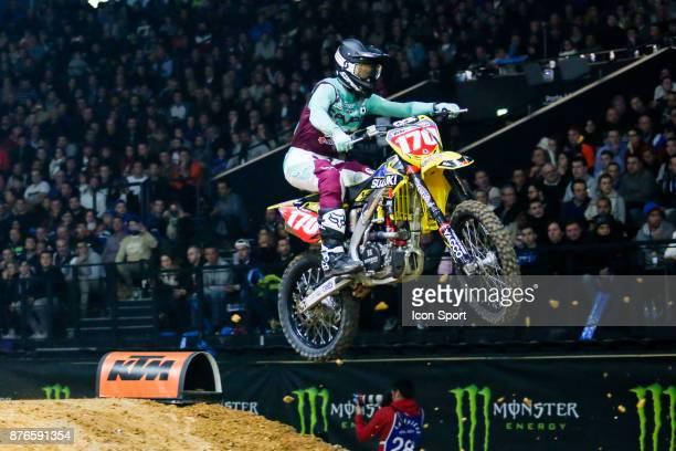 Suzuki JPM's rider Yannis Irsuti of France during the Supercross of Paris on November 18 2017 at U Arena in Nanterre France