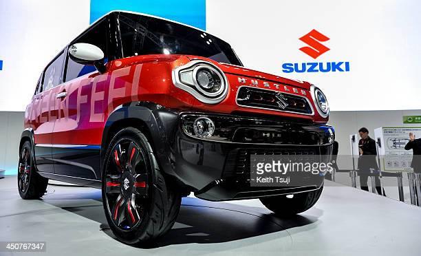 Suzuki Motor Corp Hustler concept vehicle is on display during the 43rd Tokyo Motor Show 2013 at Tokyo Big Sight on November 20 2013 in Tokyo Japan...