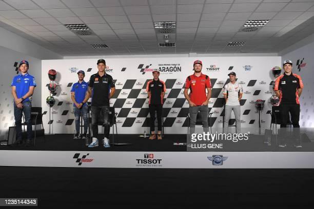Suzuki Spanish rider Joan Mir, Suzuki Spanish rider Alex Rins, Yamaha French rider Fabio Quartararo, Aprilia Spanish rider Aleix Espargaro, Ducati...