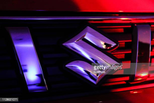 Suzuki Vitara car front grille with Suzuki logo is seen in Gdansk, Poland on 27 February 2019 Motor centrum company the Mitsubishi and Suzuki car...