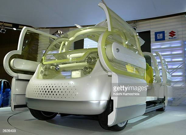 Suzuki's new concept car 'Mobile Terrace' is seen during the 37th Tokyo Motor Show at Makuhari Messe east of Tokyo October 22 2003 in Tokyo Japan