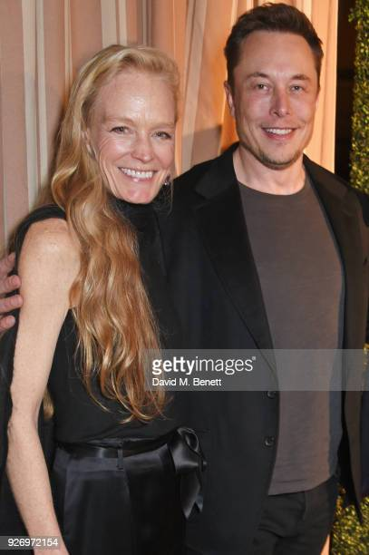 Suzy Amis Cameron and Elon Musk attend the first annual gala hosted by MAISONDEMODECOM and Perrier Jouet to celebrate Sustainable Style by honoring...