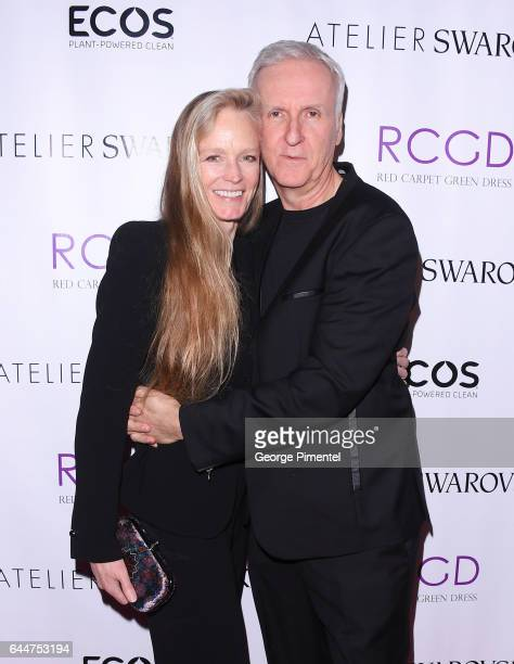 Suzy Amis Cameron and James Cameron attend Red Carpet Green Dress PreOscar Celebration at a private residence on February 23 2017 in Los Angeles...
