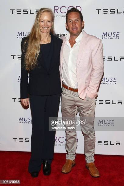 Suzy Amis Cameron and Javier Verdura attend the Suzy Amis Cameron Hosts The Red Carpet Green Dress 9th Annual PreOscars Celebration at Private...