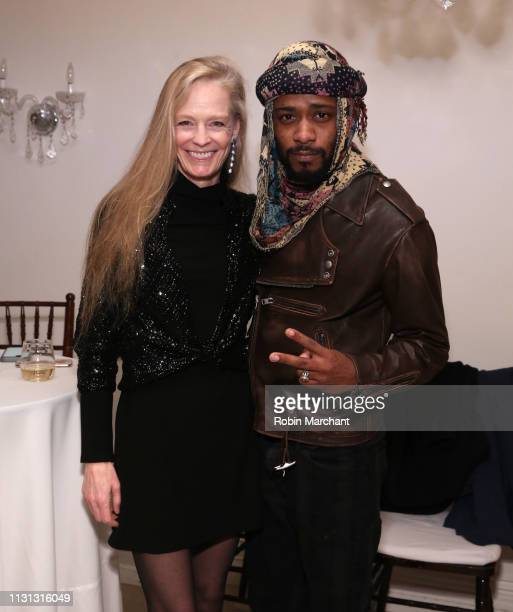 Suzy Amis Cameron and Lakeith Stanfield attend Suzy Amis Cameron's 10-Year Anniversary Of RCGD Celebration on February 21, 2019 in Beverly Hills,...