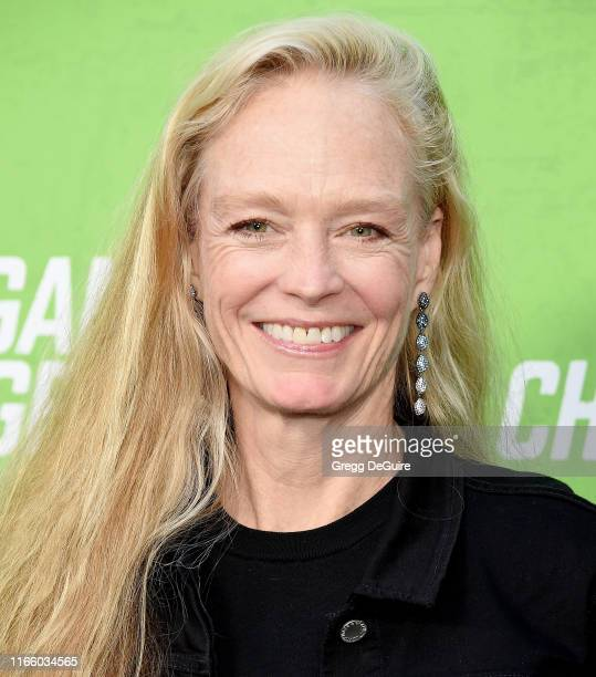 """Suzy Amis Cameron arrives at the LA Premiere Of """"The Game Changers"""" at ArcLight Hollywood on September 4, 2019 in Hollywood, California."""