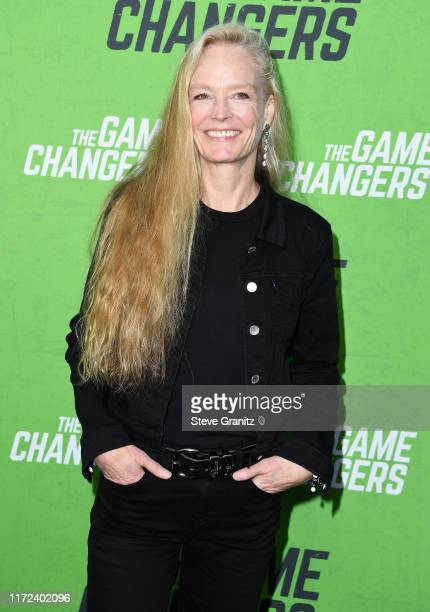 """Suzy Amis Cameron arrives at the LA Premiere Of """"The Game Changers"""" at ArcLight Hollywood on September 04, 2019 in Hollywood, California."""