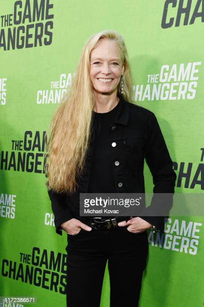 """Suzy Amis Cameron attends the Los Angeles Premiere of """"The Game Changers"""" Documentary at ArcLight Hollywood on September 04, 2019 in Hollywood,..."""