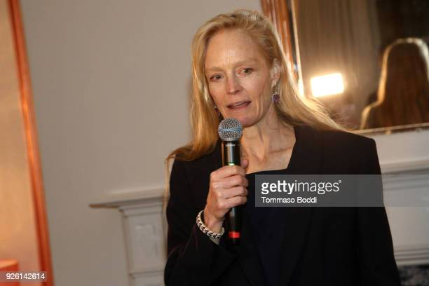 Suzy Amis Cameron attends the Suzy Amis Cameron's 9th Annual Red Carpet Green Dress PreOscars Celebration At The Private Residence of Jonas Tahlin...