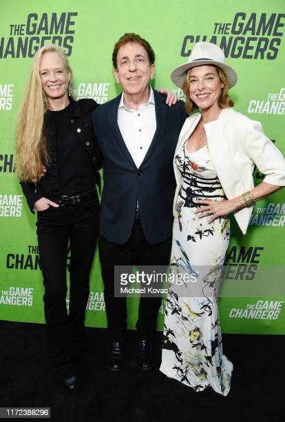 """Suzy Amis Cameron, Dr. Dean Ornish and Anne Ornish attend the Los Angeles Premiere Of """"The Game Changers"""" Documentary at ArcLight Hollywood on..."""