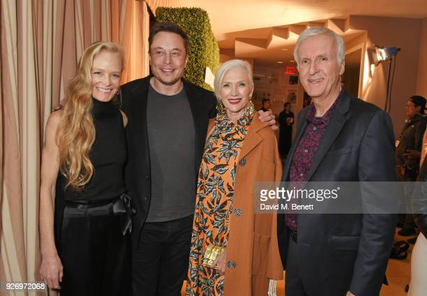 Suzy Amis Cameron Elon Musk Maye Musk and James Cameron attend the first annual gala hosted by MAISONDEMODECOM and Perrier Jouet to celebrate...