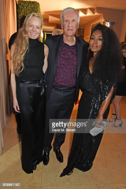 Suzy Amis Cameron James Cameron and Angela Bassett attend the first annual gala hosted by MAISONDEMODECOM and Perrier Jouet to celebrate Sustainable...