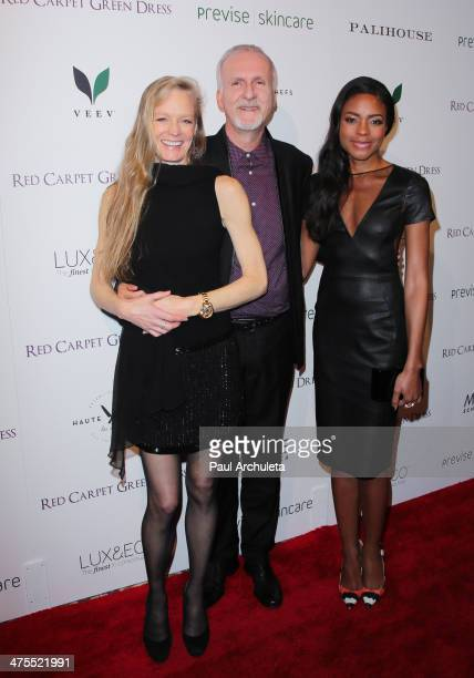 Suzy Amis James Cameron and Naomie Harris attend the 5th Anniversary of Suzy's Global Sustainable Design Campaign Red Carpet Green Dress cocktail...